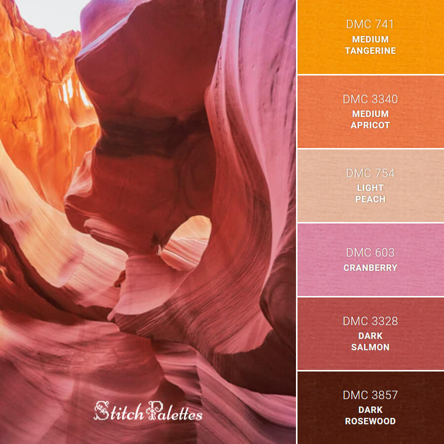 Stitch Palette SPA0568: Lower Antelope Canyon
