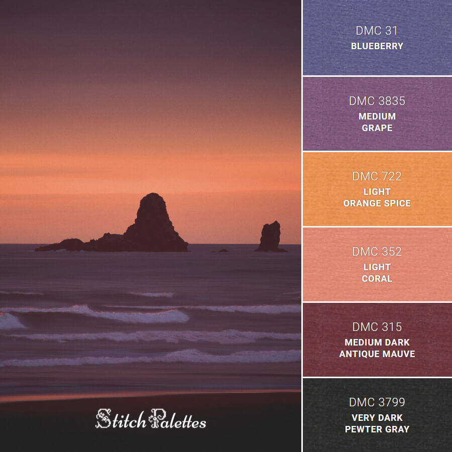 Stitch Palette SPA0582: Cannon Beach