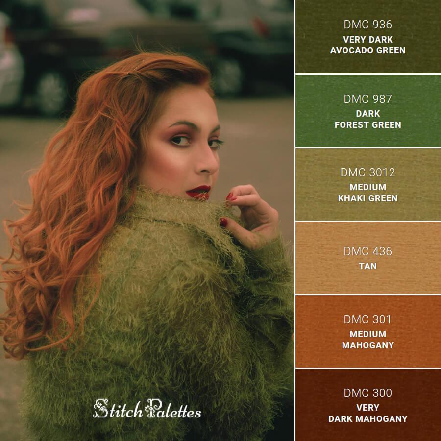 Stitch Palette SPA0591: Cozy In Green