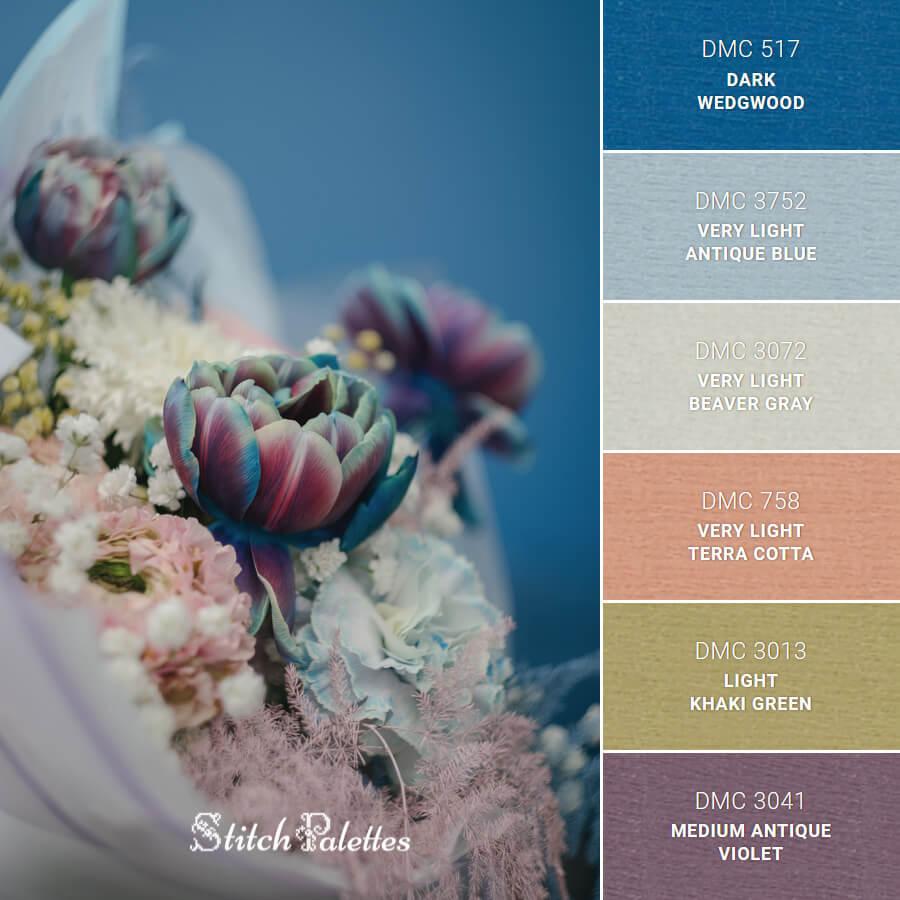 Stitch Palette SPA0593: Blue Bouquet