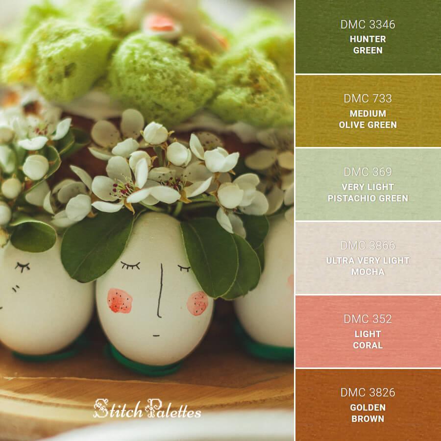 Stitch Palette SPA0610: Eeaster Egg Decor