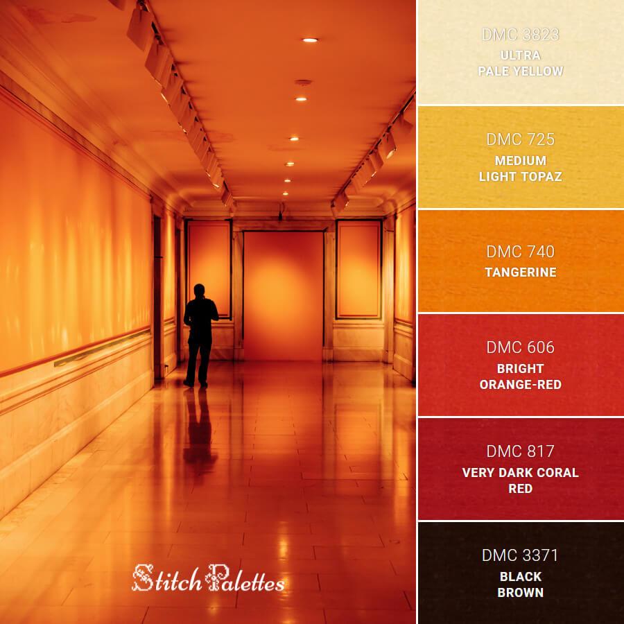 Intense Red Corridor