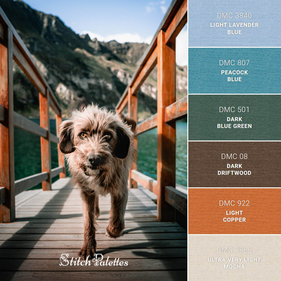 Stitch Palette SPA0621: Friendly Brown Dog
