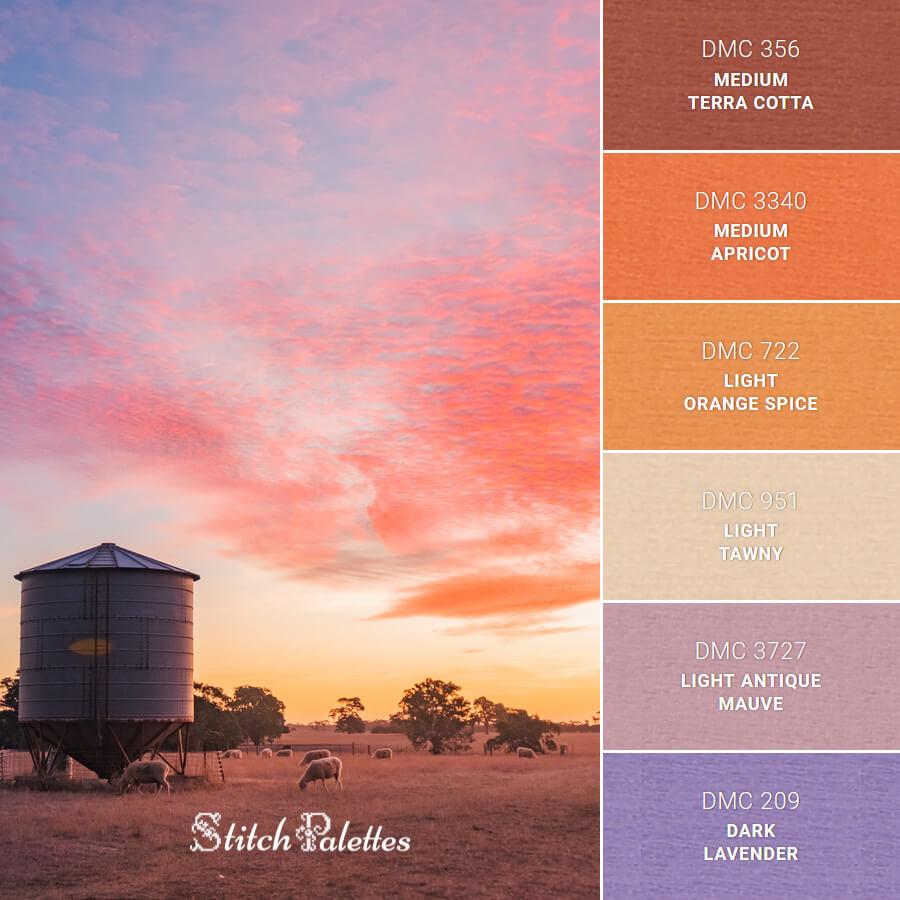 Stitch Palette SPA0631: Bright Australian Sunset