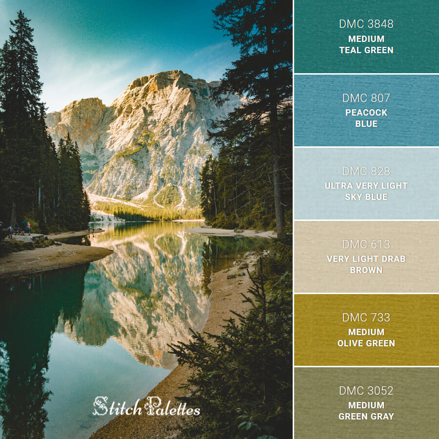 Stitch Palette SPA0643: Lake Braies In Italy