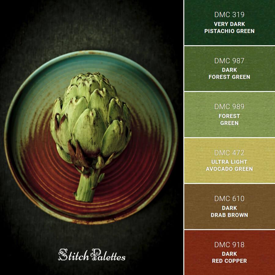 Green Artichoke Textures