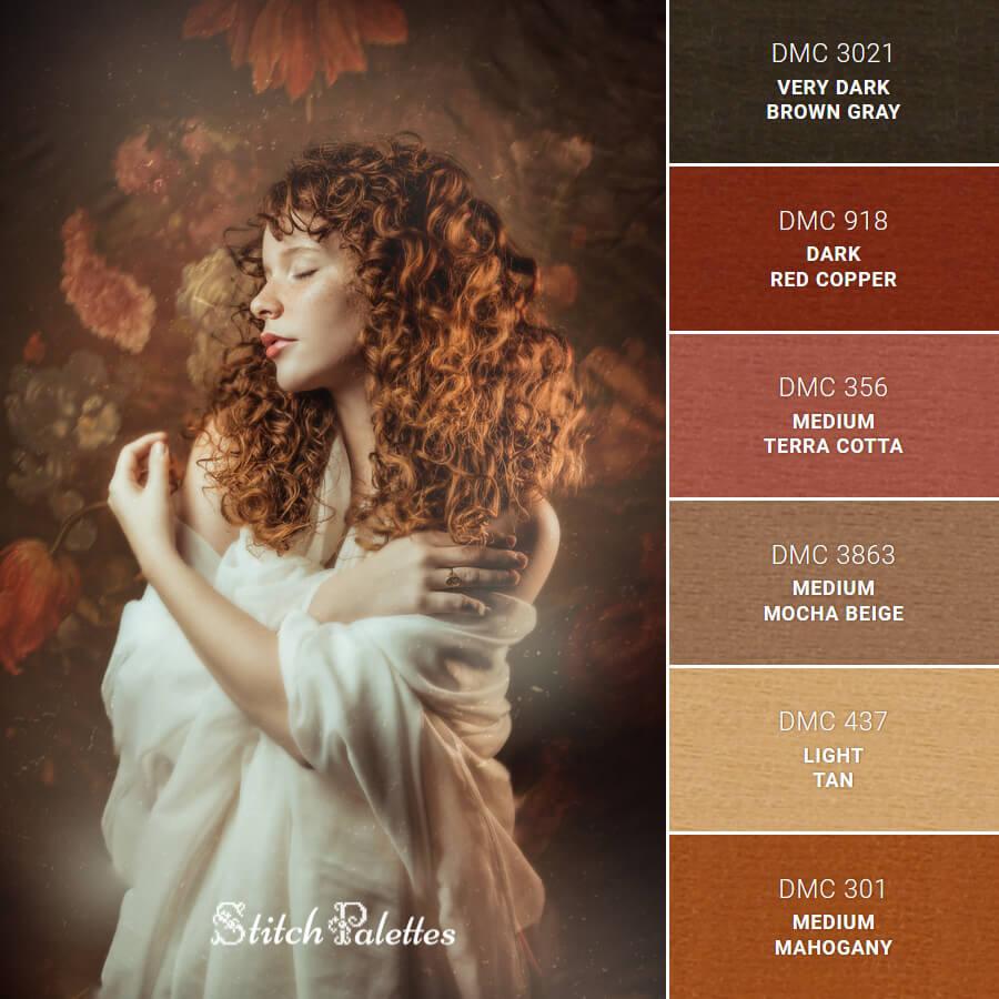 Stitch Palette SPA0661: Soft Retro Portrait