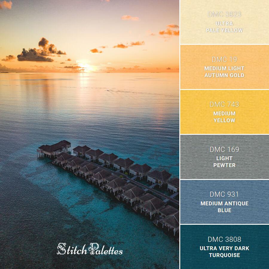 Stitch Palette SPA0662: Sunrise In Maldives