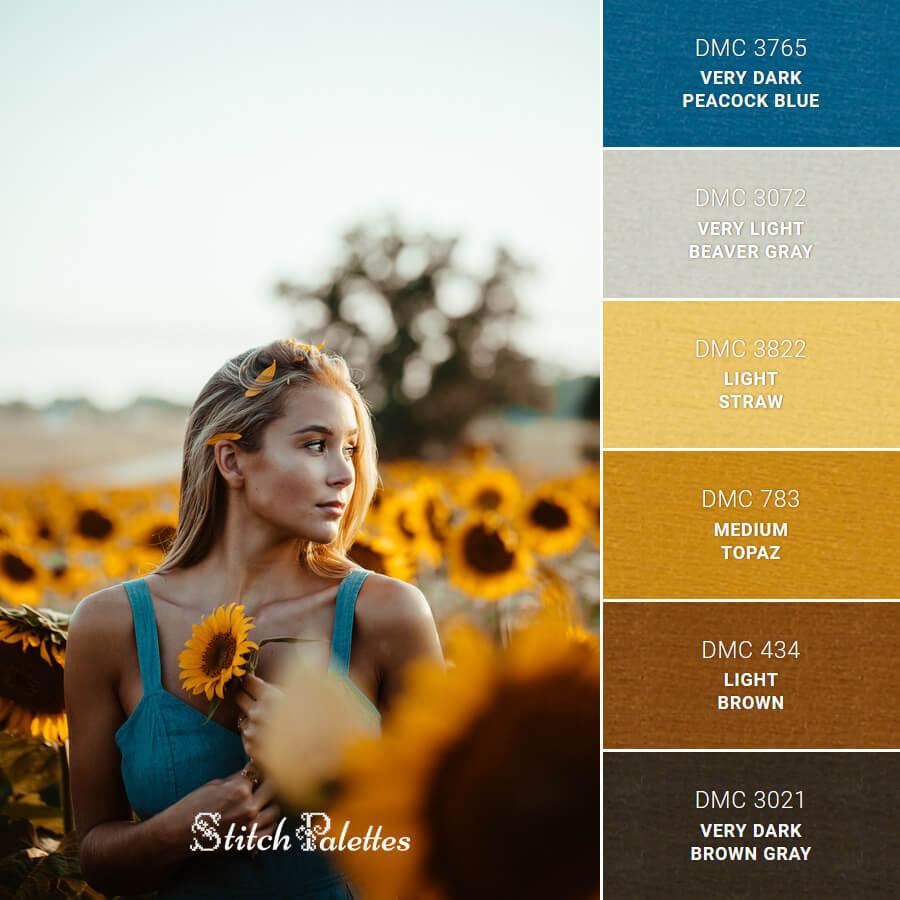 Walking Around Sunflowers