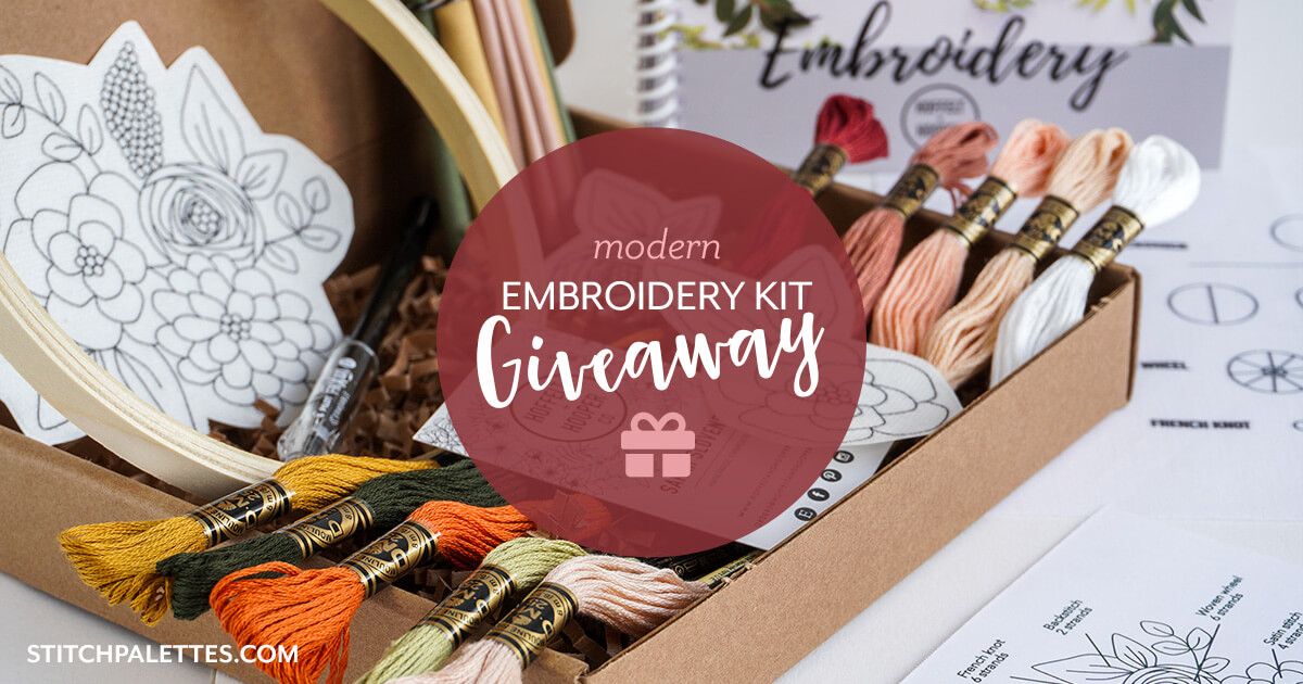 Win a modern embroidery starter kit, worth $85