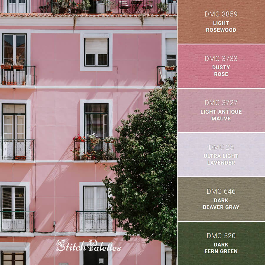 Pink Building With Balconies