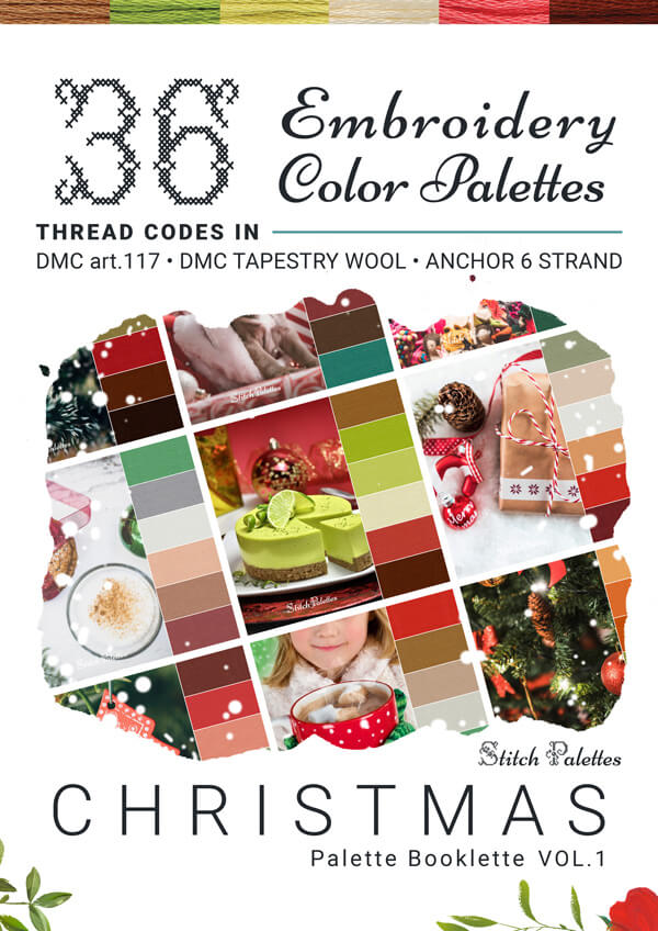 36 Christmas Embroidery Color Palettes