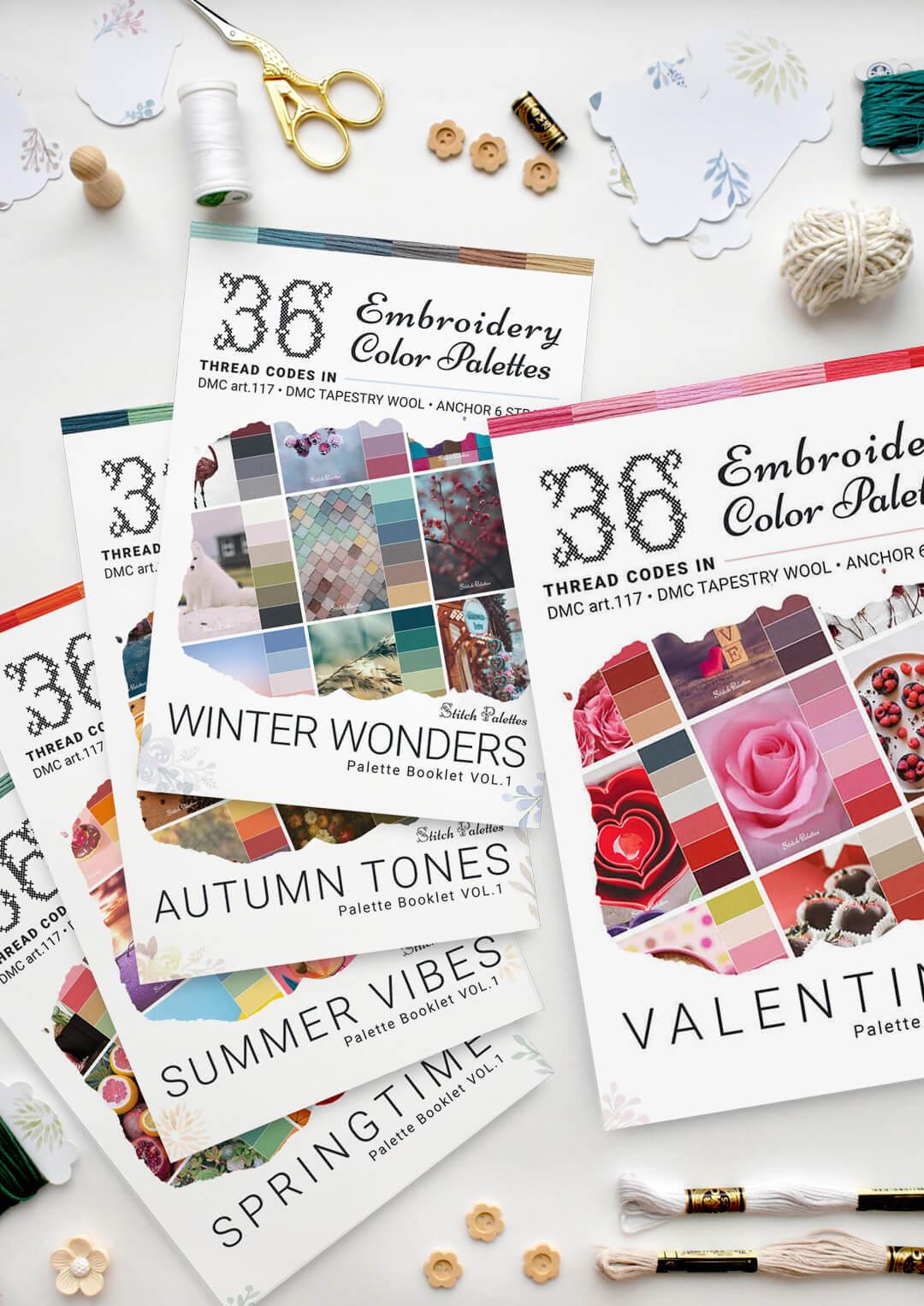 Seasonal palette bundle with Valentines Booklet